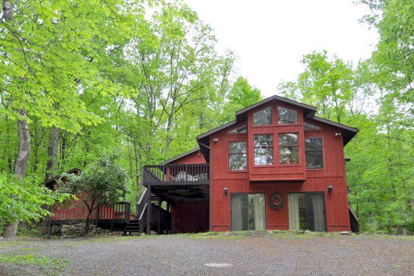 A Woods View rental home at Berkeley Springs Cottage Rentals in Berkeley Springs West Virginia