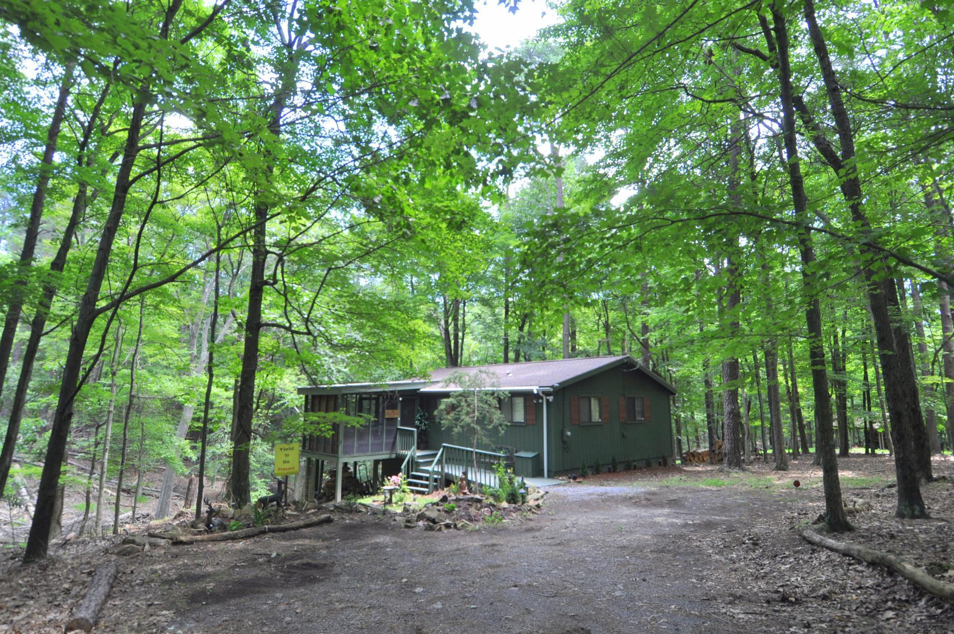 A Zen Mountain Retreat rental home at Berkeley Springs Cottage Rentals in Berkeley Springs West Virginia
