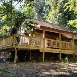 Brookwood Chalet rental home at Berkeley Springs Cottage Rentals in Berkeley Springs West Virginia