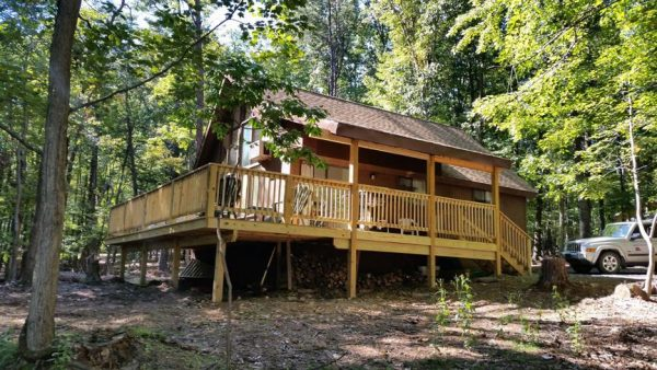 Brookwood Chalet rental home at Berkeley Springs Cottage Rentals in Berkeley Springs West Virginia