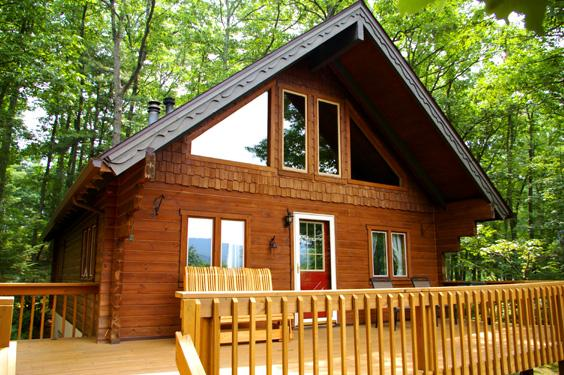 The Outlook rental home at Berkeley Springs Cottage Rentals in Berkeley Springs West Virginia
