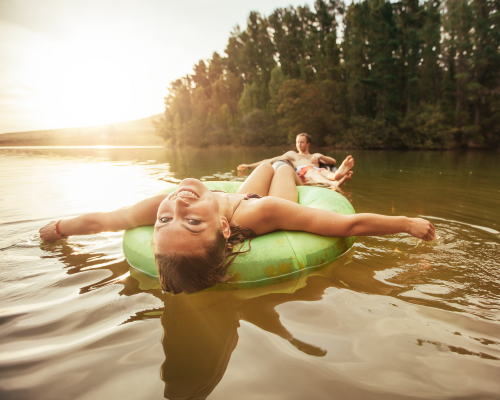Float tubing and water activities in West Virginia
