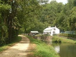 C & O canal towpath in Maryland